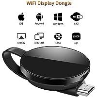 LONOSUN WiFi Dongle de Pantalla, Wi-Fi Receptor Mini Pantalla 1080P HDMI TV Miracast DLNA Airplay para iOS / Android / Mac