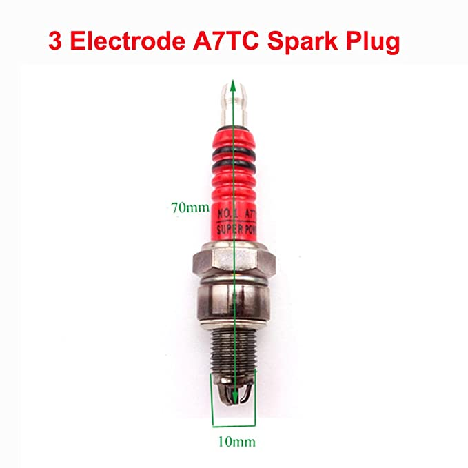 Back To Search Resultsautomobiles & Motorcycles A7tc 3 Electrode Ignition Spark Plug For 50cc 70cc 90cc 110cc 125cc Engine Pit Dirt Motor Bike Atv Scooter Moped 4 Wheeler