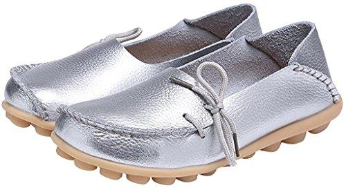 Basses Femme 1 Fangsto Sty Loafer Flats Silver HqEWwRzp