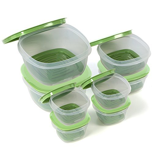 Rubbermaid Produce Saver Square Food Storage Containers Set of 16