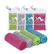 Awroutdoor Cooling Towel, Kühlendes Handtuch Set Sofortige Relief Eiskalt Kühlen Handtuch Atmungsaktives Mesh…