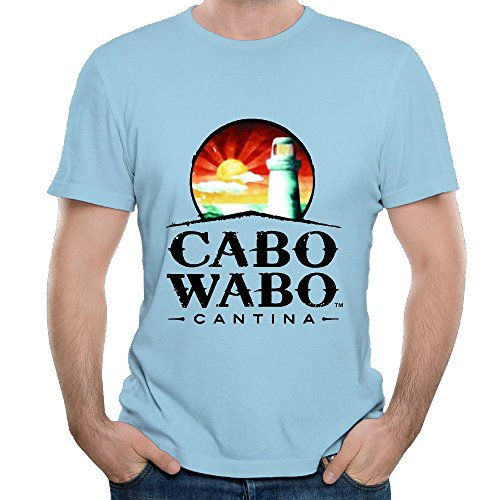 Ngxiuquq Mens Cabo Wabo Logo Fashion Outdoor SkyBlue T-shirts Short Sleeve (Best Tequila In Cabo)