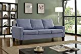 Home Life 3 Person Contemporary Upholstered Linen Sofa, 77'' Wide, Light Blue