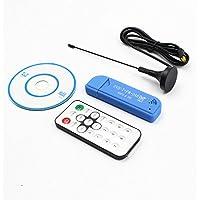 Leoie USB2.0 FM DAB DVB-T RTL2832U R820T2 RTL-SDR SDR Dongle Stick Digital TV Tuner Remote Infrared Receiver with Antenna Blue