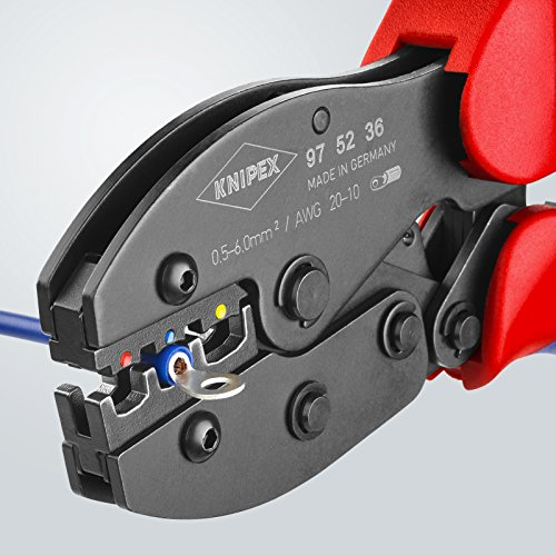 Knipex 97 52 36 0,5-6mm Crimping Pliers ''PreciForce'' for insulated terminals by KNIPEX Tools (Image #5)