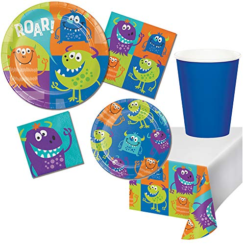 Fun Monsters Birthday Supplies Party Pack for Girls