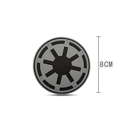 amarillo 8 cm Star Wars Imperio Gal/áctico Imperial Crest insignia Logo PVC Rubber 3d Velcro Patch gancho /& loop