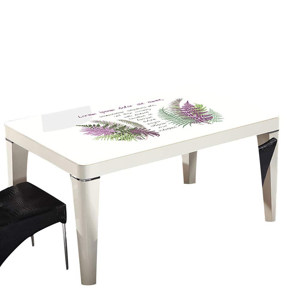 テーブルクロスソフトグラスPVC 80x120cm防水アンチホットアンチオイル簡単クリーンテーブルプロテクターコーヒーティーテーブルマットプラスチックテーブルクロス (サイズ さいず : 80x135cm) 80x135cm  B07S3SZ24W