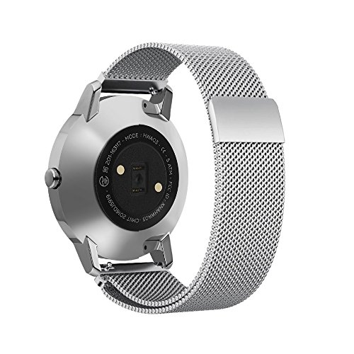 Shangpule Replacement Bands for Withings Nokia Steel HR Tracker, Stainless Steel Metal Bracelet Strap for Withings Nokia Steel HR 40mm/36mm (Milanese Silver, 40mm)