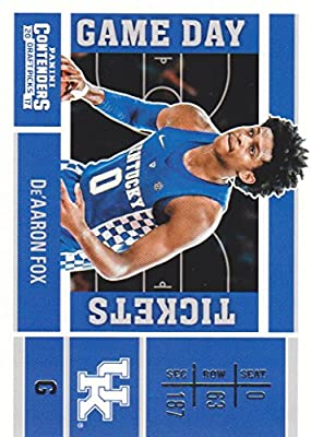 2017-18 Panini Contenders Draft Picks Basketball Game Day Tickets #7 De'Aaron Fox Kentucky