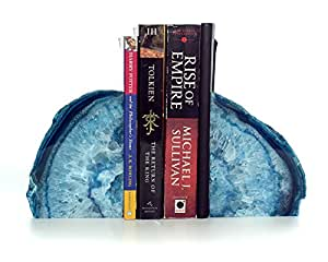 Large Polished Agate Bookends. Premium Quality Book Ends Made in Brazil. 4–8 lbs per set
