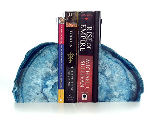 Large Polished Agate Bookends  Premium Quality Book Ends Mad (Large Image)