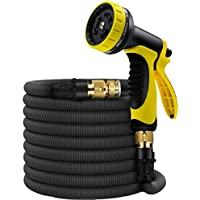 Expandable Water Hose, 50ft Garden Hose w/Pattern Spray...