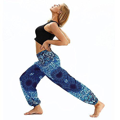 Harem Yoga para Travel Estampado El Deportivas Lounge Pantalones Beach Festival Suelto Yoga Mujer Mujer Trousers Pants XgXrw