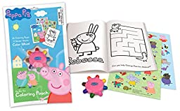 Primary Colors Peppa Pig OTG Coloring Pouch with Wheel (928-PP)