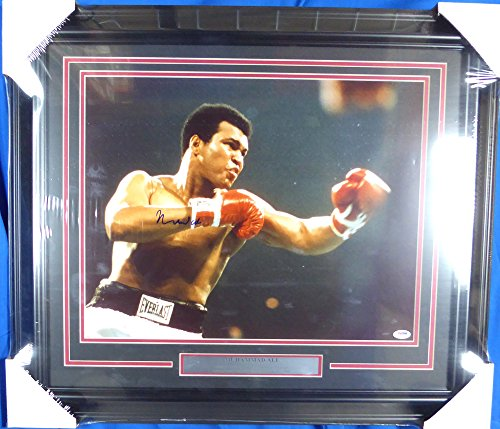 Muhammad Ali Autographed Framed 16x20 Photo PSA/DNA #S14053
