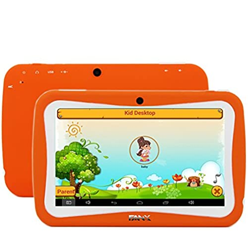 7 inch Kids Tablet PC RK3126 Quad Core 8G ROM Android 5.1 With Children Educational Apps Dual Camera PAD-Orange Coupons