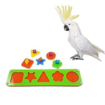 Anjing Mall Rompecabezas Bloque de construcción pájaro Inteligencia Juguete de Entrenamiento para Loro, Guacamayo, Juguete de plástico Bloque de construcción: Hogar
