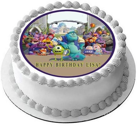 Monsters Inc University - Edible Cake Topper - 6