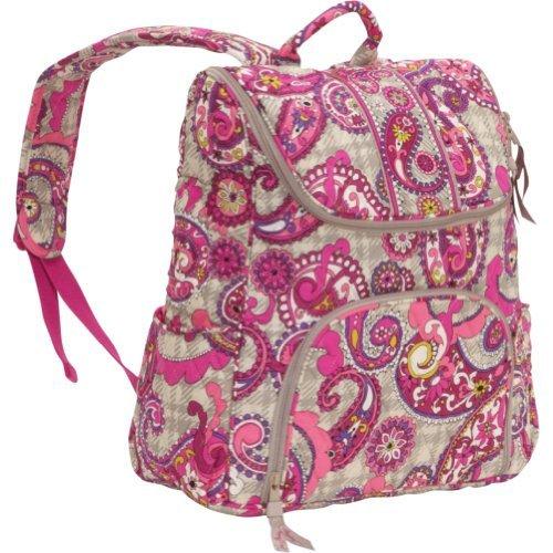Double Zip Backpack - Vera Bradley Double Zip Backpack Paisley Meets Plaid