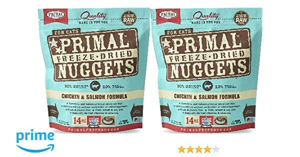 Amazon Primal Freeze Dried Nuggets Chicken Salmon Formula
