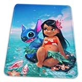 Lilo Stitch Mouse Pad with Stitched Edge Premium-Textured Mouse Mat Non-Slip Rubber Base Mousepad for Laptop Computer & PC 11.81 X 9.84 X 0.12 inches