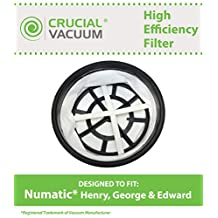 Replacement Vacuum Filter Fits Numatic Henry, George & Edward, Designed & Engineered by Crucial Vacuum