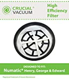 TOP BENEFITS OF VACUUM FILTERS  LONG LASTING RELIABILITY BETTER AIR QUALITY EASY TO INSTALL MAXIMUM DURABILITY HEALTHIER LIVING  HEPA FILTER REPLACES NUMATIC PART NO. 27-NM-08  FILTERS DESIGNED TO FIT NUMATIC BASIL, EDWARD, GEORGE, HENRY, HETTY, JAME...