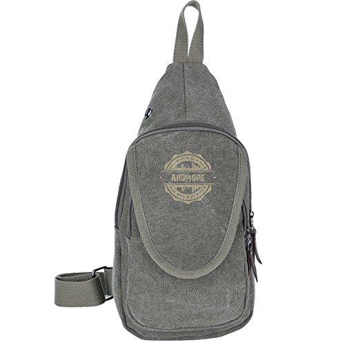 X-JUSEN Canvas Sling Bag, Ardmore Oklahoma Shoulder Crossbody Chest Backpack, Unbalance Lightweight Daypacks, Anti Theft Bags Pack Handbag Pouch (Ardmore Light Outdoor 1)