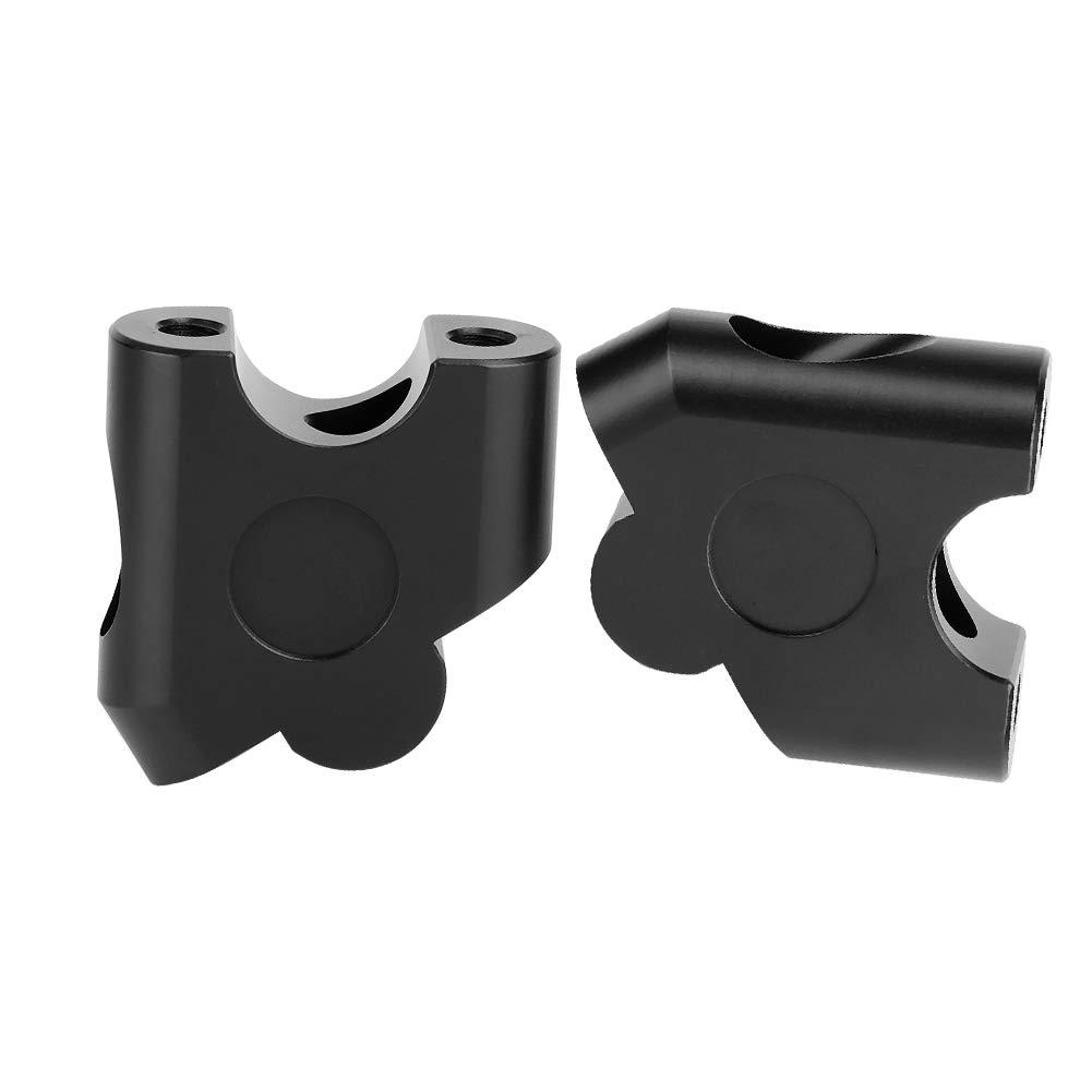 22mm Universale per moto Manubrio per riser Manubrio Morsetto Adattatore per montaggio posteriore Black Riser per manubrio