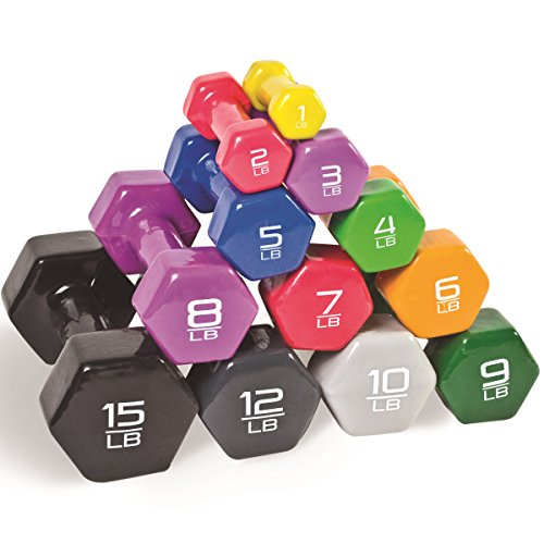 CAP Barbell Vinyl Coated Single Dumbbell