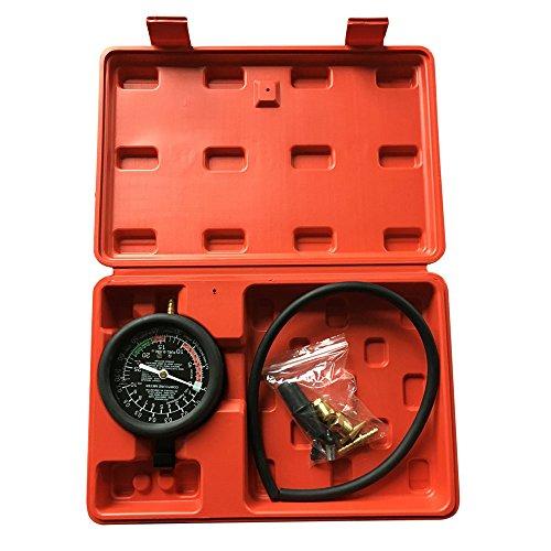 Professional Vacuum Tester Gauge Test Kit For Carburetor Valve Pressure With Red Case
