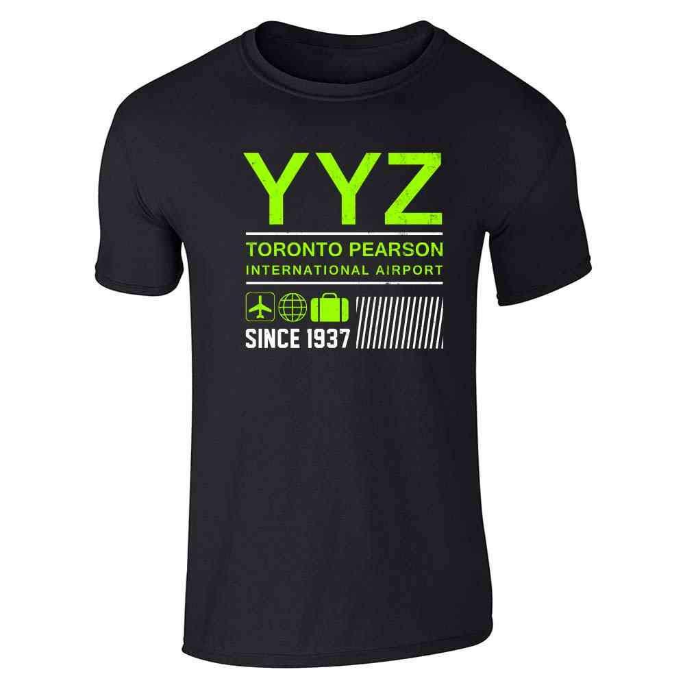 Yyz Toronto Airport Code Since 1937 Travel Short Sleeve T Shirt 1554