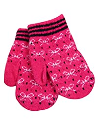 Fashion Winter Women's Mittens Bow Gloves Jacquard Cashmere,Red