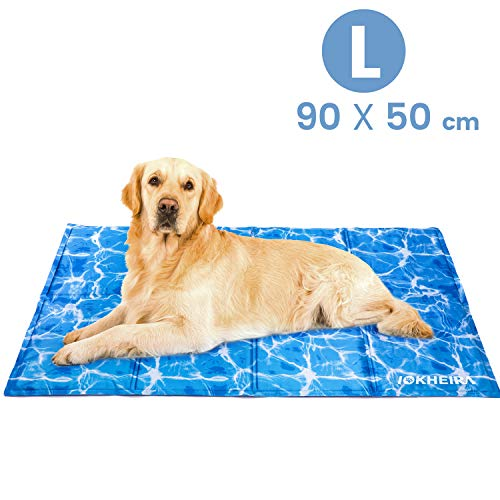 Iokheira Dog Cooling Mat Large 90x50cm,Pet Cooling Mat Innoxious Gel Self Cooling Pad,Great for Dogs and Cats in Hot Summer