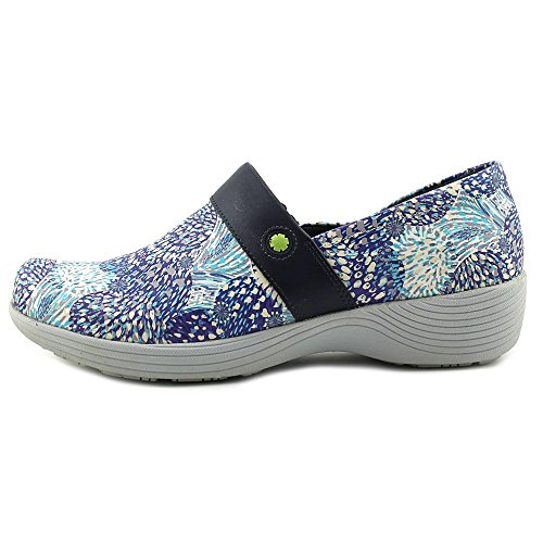 Brevetto Di Fiore Blu Sandalo Con Cimbali Per Calzature Da Donna