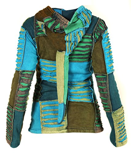 Ladies Little Floreale Hoodie Costole Kathmandu Lined winter Patch Razorcut Ricamo Fleece 5qOwq7