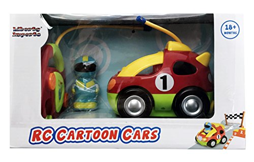 Cartoon R/C Race Car Radio Control Toy for Toddlers by Liberty Imports