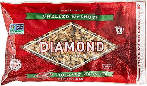 Diamond Shelled Walnuts, 16-oz. Bags (Pack of 6)