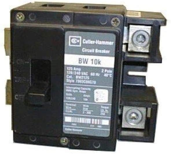 Cutler Hammer bw2175 2 pole 1 Phase Circuit Breaker 175 Amps Bolt-on BW Series, type BW bolt-on