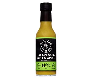 Jalapeño And Green Apple Hot Sauce By Bravado Spice Gluten Free, Vegan, Low Carb, Paleo Hot Sauce All Natural 5 oz Hot Sauce Bottle Award Winning Gourmet Hot Sauce