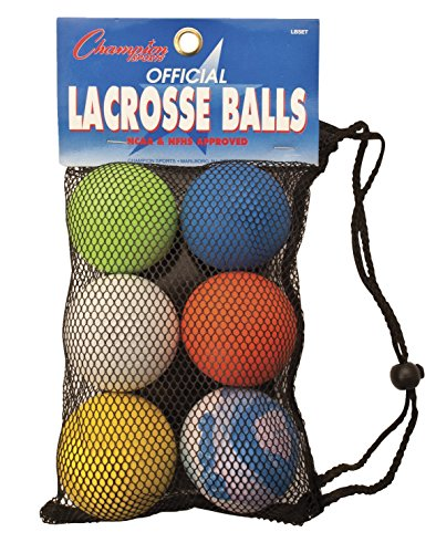 STX Six Pack of Assorted Color Lacrosse Balls