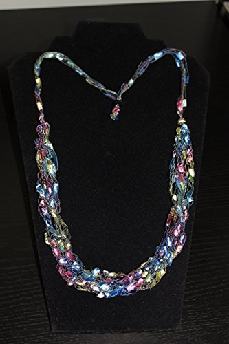 Necklace Scarf Adjustable Pastel (Trellis Scarf)