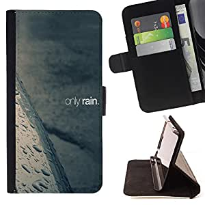 Jordan Colourful Shop - FOR Samsung Galaxy S3 MINI 8190 - only rain - Leather Case Absorci¨®n cubierta de la caja de alto impacto