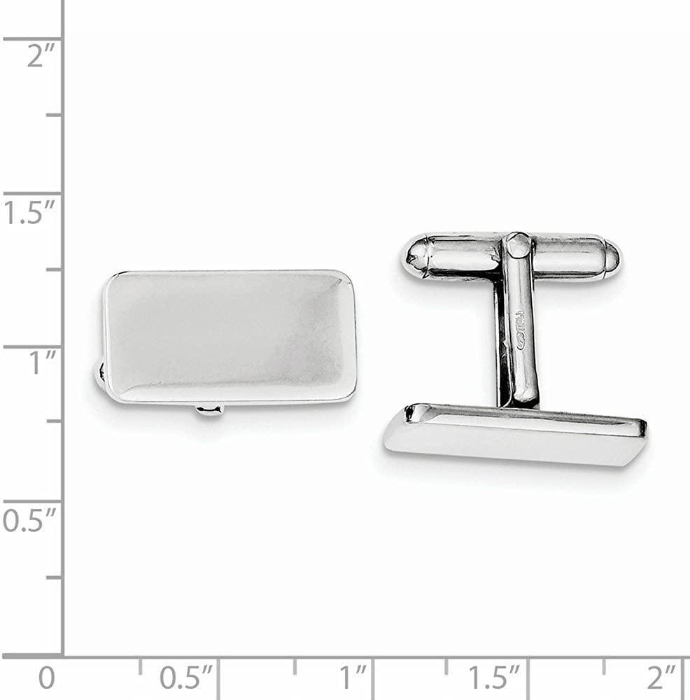 925 Sterling Silver Rhodium-plated Cuff Links
