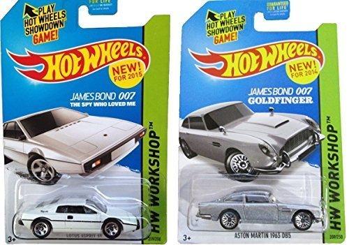 James Bond Hot Wheels Lotus & Aston Martin Goldfinger Spy Set ()