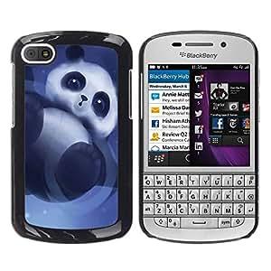 - Panda Cute Bear Animal - - Monedero pared Design Premium cuero del tir¨®n magn¨¦tico delgado del caso de la cubierta pata de ca FOR BlackBerry Q10 Funny House