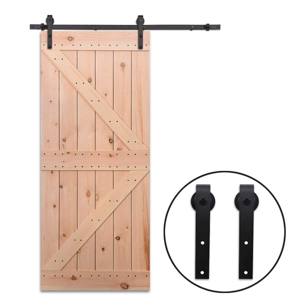 9FT//274cm Schiebe T/ür-Hardware-Track-Kit Einzelt/ür Holzt/ür Sliding Barn Wood Door Hardware Track Kit For Single Door Flat Shape