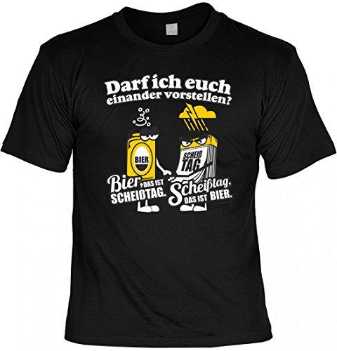 T-Shirt Spruchshirt als Geschenk - Bier das ist Scheißtag - witziges Motivshirt für den Biertrinker mit Humor und Pech