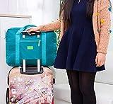 Boddenly Women Ladies Men Canvas Weekender Bag Overnight Carry-on Tote in Trolley Handle, Travel Bag Large Foldable Bag, Weekend Travel Bag Ladies Women Tote Bags, Multi-Color